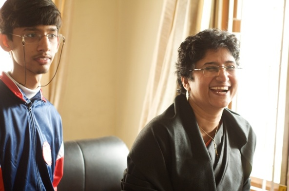 Geeta's son, Samarpan, has inspired her to