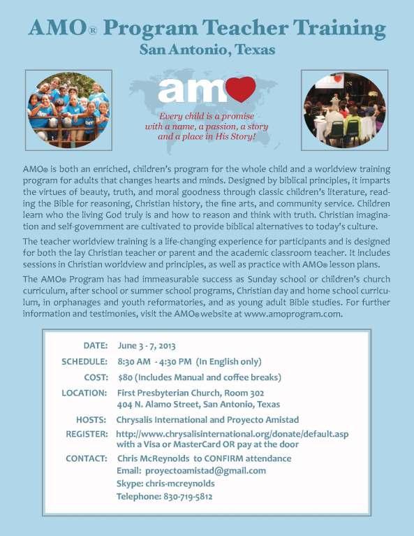 AMO invitation